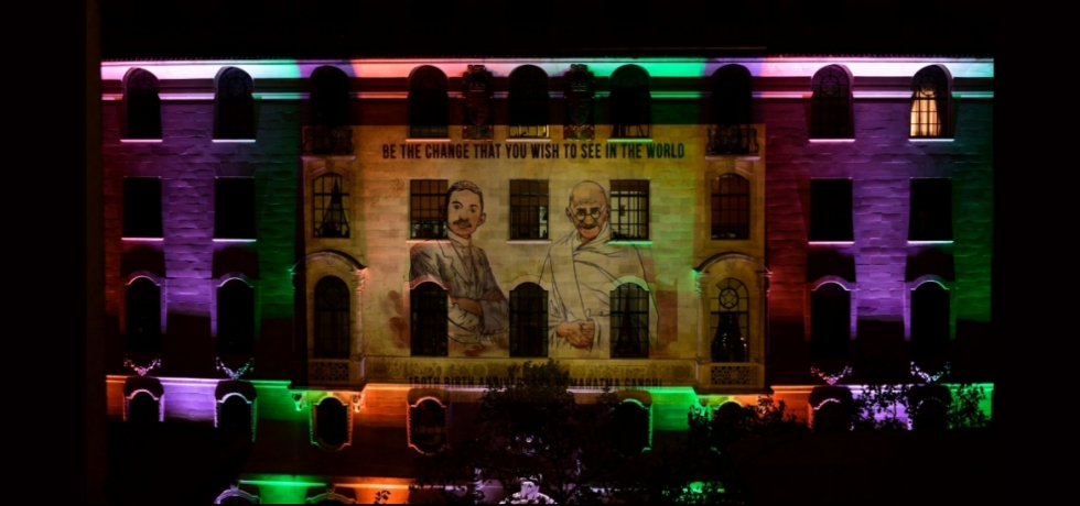 Projection of Bapu's life and messages at India House
