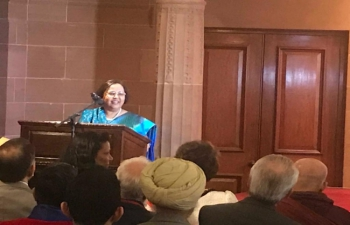 Celebrations of Bharat Ratna Dr B. R. Ambedkar's 128th Jayanti at India House on 14 April 2019.