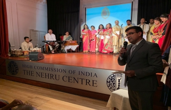 Rabindranath Tagore Jayanti celebrated at the Nehru Centre, High Commission of India - 10.5.2019