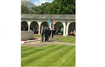 To commemorate Indian Air-warriors who laid their lives in 2nd Wold War. Laid wreath on behalf the HC at Runnymede Commonwealth Air Forces Memorial on 12-05-2019