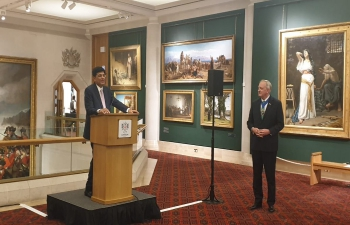 Mr. Piyush Goyal, Hon. Minister of Railways and Commerce & Industry at the dinner hosted by Rt Hon the Lord Mayor of the city of London, Alderman Peter Estlin in London on 15/07/2019