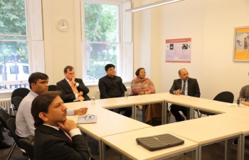 Mr. Piyush Goyal, Hon. Minister of Railways and Commerce & Industry was accompanied by HC RuchiGhanashyam, British HC Sir Dominic Asquith, DHC Shri Charanjeet Singh, Mr Manish Singh (Min Eco) to Jill Dando Institute (UCL) to explore the opportunities of collaboration in the field of Artificial Intelligence on 15/07/2019.