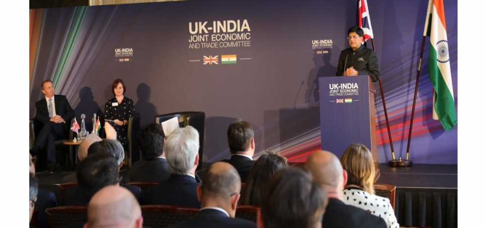 Mr. Piyush Goyal, Hon. Minister of Railways and Commerce & Industry at the Plenary Session of Joint Economic and Trade Committee between India & UK