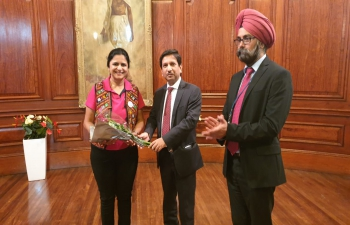 Biking Queens being falicitated by the Deputy High Commissioner at the High Commission of India - 26 August 2019