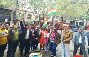 High Commissioner led the efforts of the Indian community and officers and staff of the High Commission to clean the mess made by the protest of 3 September outside the India House-07/08/2019