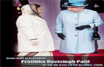 President Pratibha Devisingh Patil State Visit to UK Oct 2009