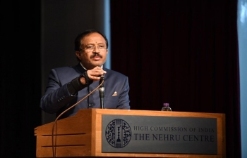 V Muraleedharan MoS External Affairs addressing Indian diaspora at The Nehru Centre London - 18.12.2019