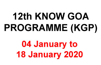 12th KNOW GOA PROGRAMME