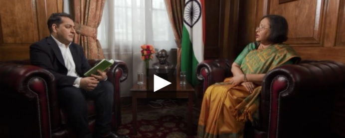 High Commissioner Mrs. Ruchi Ghanashyam's interview with RT UK - 25.01.2020