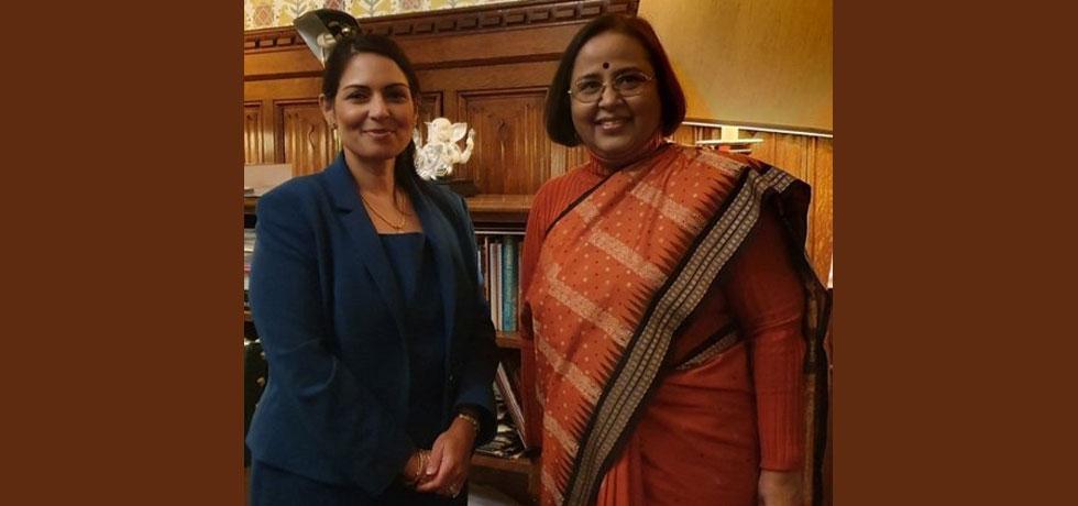 Mrs. Ruchi Ghanashyam High Commissioner of India called on Ms. Preti Patel, MP and Home Secretary of UK -  21.01.2020