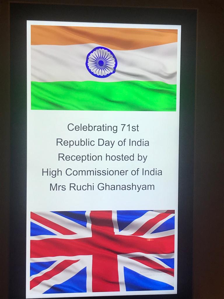 71st Republic Day Ceremony at Guildhall, London- 27.01.2020