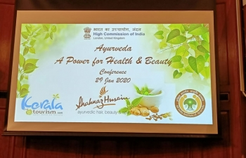 High Commission of India organized a conference on Ayurveda-A Power for Health & Beauty at India House, London