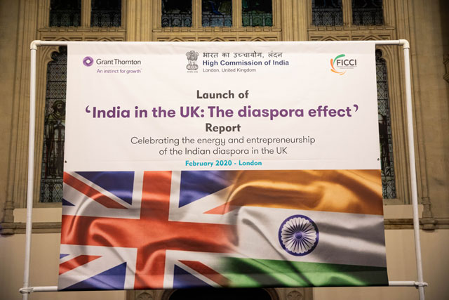 "High Commission of India along with Grant Thornton and FICCI-UK launched a report titled ""India in the UK: The Diaspora Effect"" at Guildhall, London - 04.02.2020"