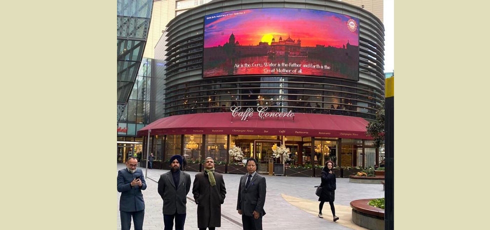 In commemoration of 550th birth anniversary of Shri Guru Nanak Dev Ji, High Commission of India organized a big screen projection at Westfield Stratford City, London on 11th, 12th & 13th November, 2019