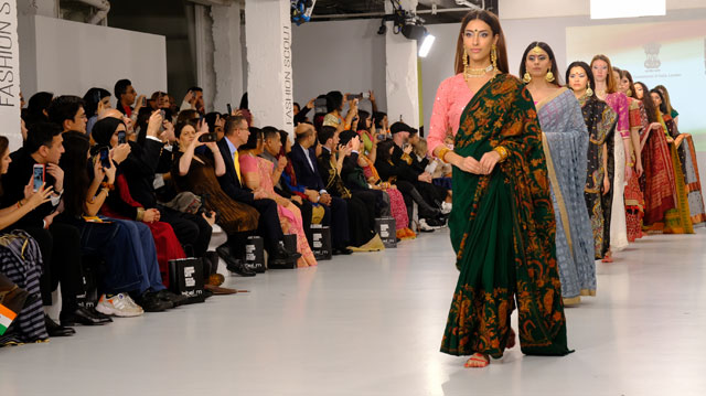 HCI celebrated 'India Day' at London Fashion Week showcasing sarees of Indian states - 15.02.2020