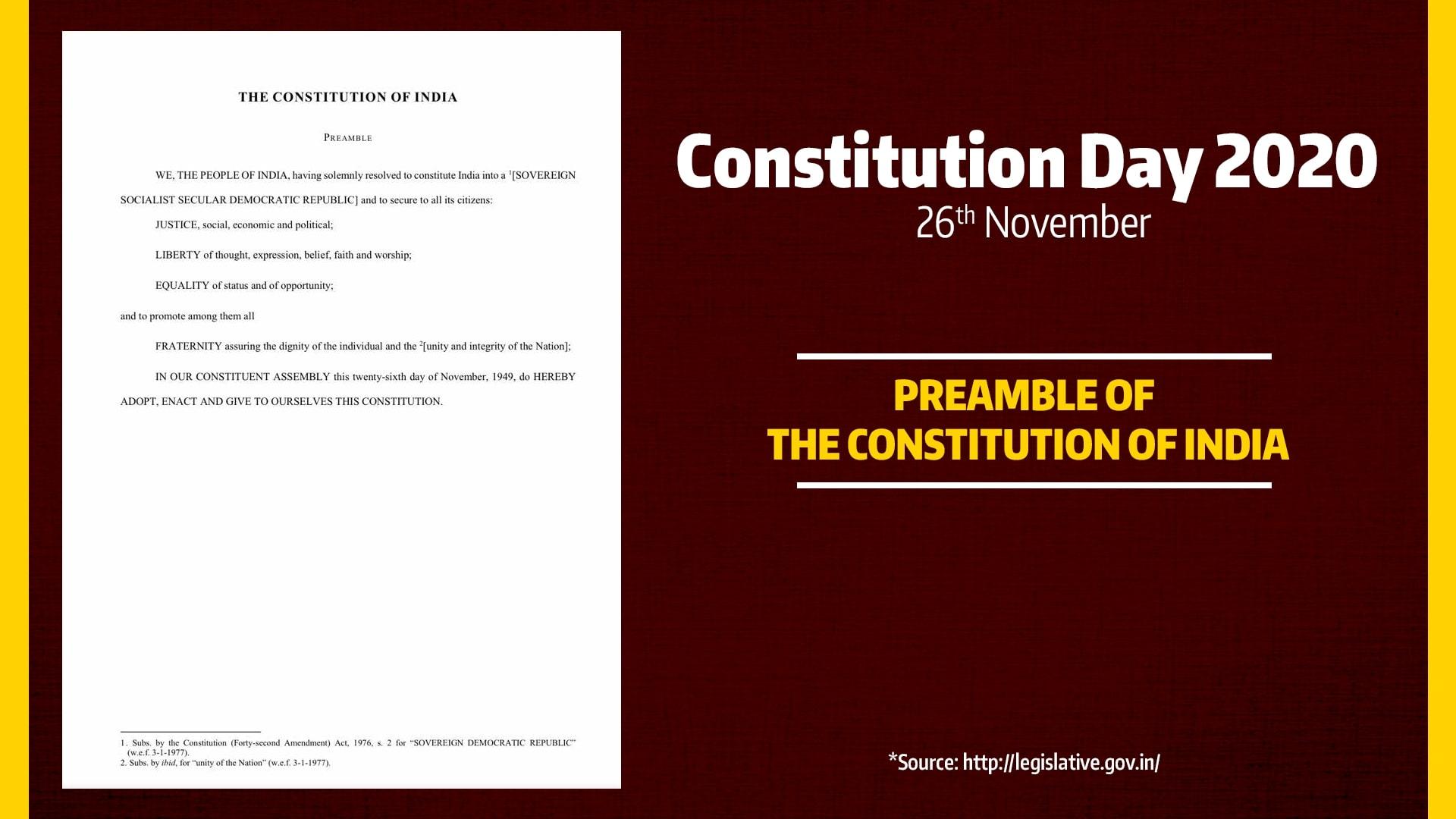 Constitution Day, 26 November 2020