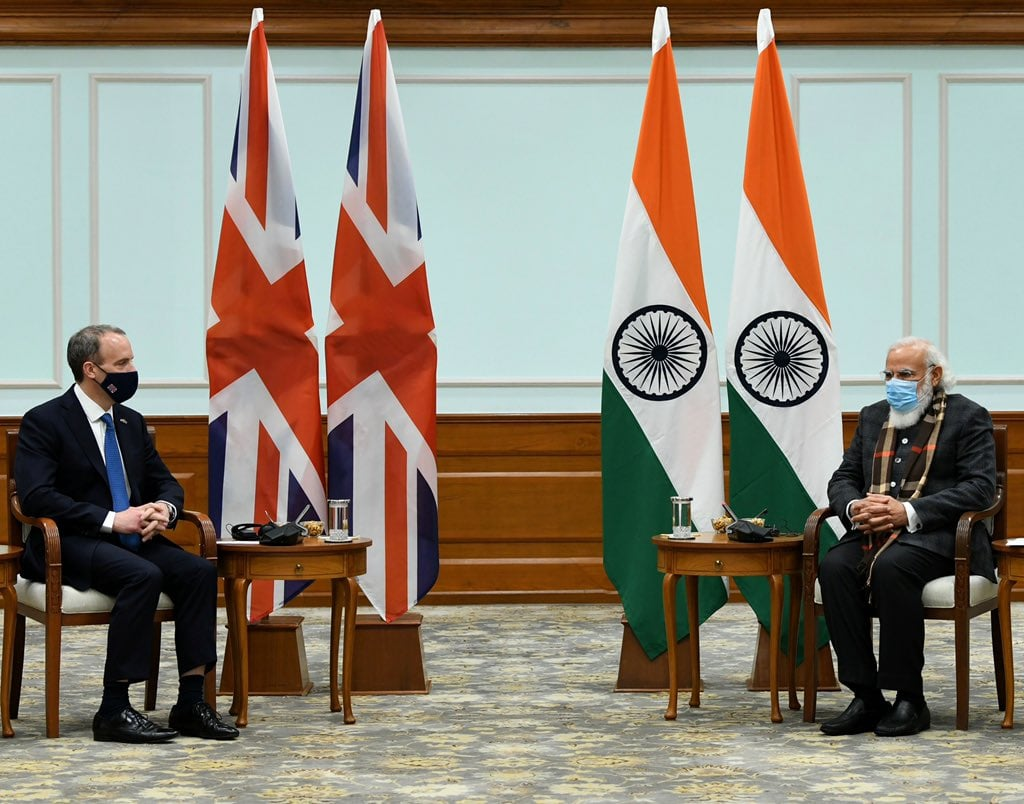 Heading- Rt Hon'ble Dominic Raab, Foreign Secretary, UK visit to India- 16 Dec 2020