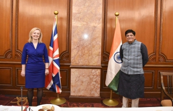 Rt Hon'ble Liz Truss, Secretary of State for International Trade, UK visit to India