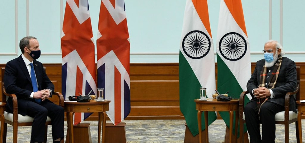 Rt Hon'ble Dominic Raab, Foreign Secretary, UK visit to India