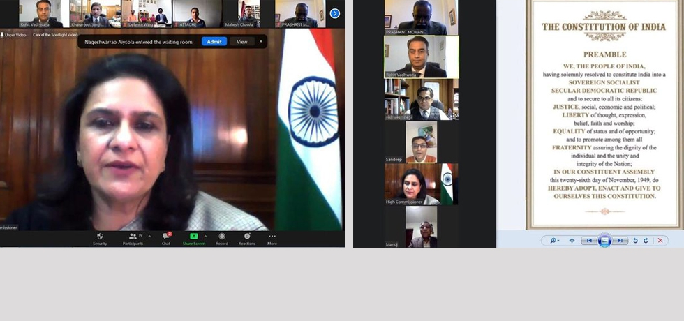 Celebrating Constitution of India (or Samvidhan Divas) on a virtual platform