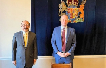 Foreign Secretary Shri Harsh Shringla's visit to UK- 4th November 2020