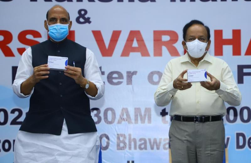Raksha Mantri Shri Rajnath Singh unveils first batch of anti-COVID drug developed by DRDO and hands over to Health Minister Dr Harsh Vardhan  2-DG medicine is a new ray of hope in fight against COVID-19, says Raksha Mantri  Terms the drug as a perfect example of country's scientific prowess & efforts towards self-reliance