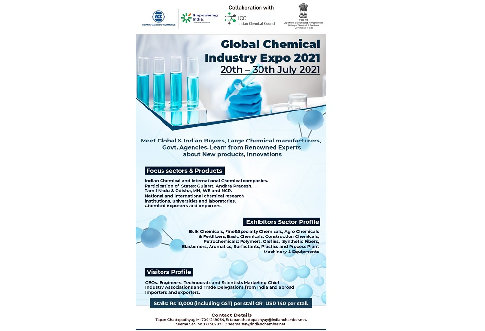 Global Chemical Industries Exhibition and Conference 2021  20th July to 30th July 2021